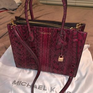 Authentic Michael Kors snakeskin bag